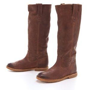 FRYE Celia X Stitch Knee High Boots